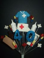 Nurse medical 40th birthday cake topper decoration - free postage